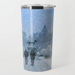 Snow in Boston Travel Mug