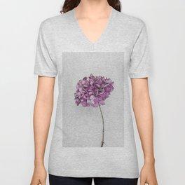Pink Dried Hydrangea Unisex V-Neck