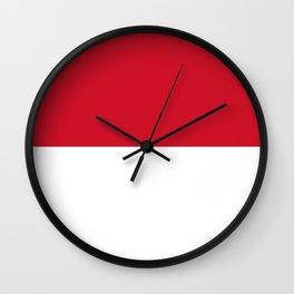 Flag of Monaco Wall Clock