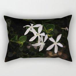 white plumeria Rectangular Pillow