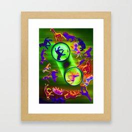 sacrificial circle Framed Art Print