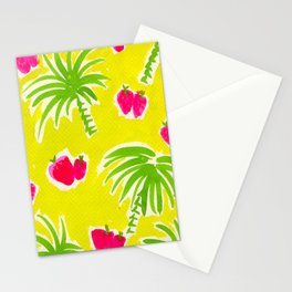 Strawberries & Palms Stationery Cards