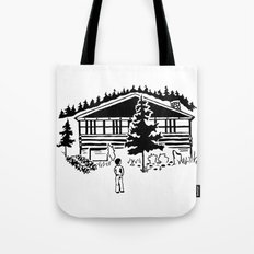 Family Cabin Tote Bag