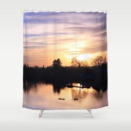 Floodplain at Sunset 4 Shower Curtain