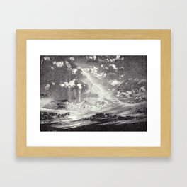 DRAMA IN BLACK AND WHITE Framed Art Print