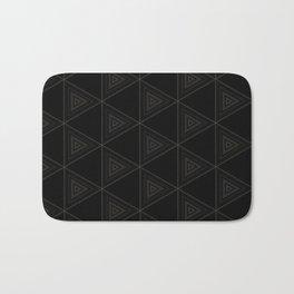 Modern Black Triangle Pattern Bath Mat