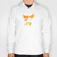 phoenix Hoodies featuring Phoenix by Dale J Cheetham