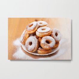 Pile of sweet homemade doughnuts Metal Print