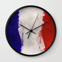 Watercolor flag of France Wall Clock