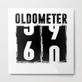 Oldometer 60 60th Birthday Metal Print