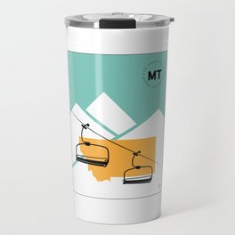 Skiing in Montana Travel Mug