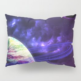 Space Rings Pillow Sham