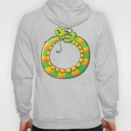 Crazy snake Biting its own Tail Hoody