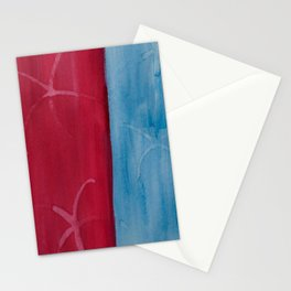 Red and Blue Stripe Stationery Cards