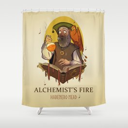 Alchemist's Fire Habanero Mead Shower Curtain