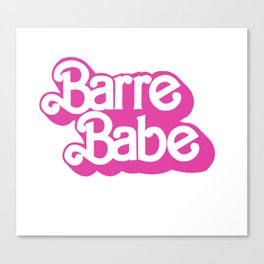 80's Barre Babe Canvas Print