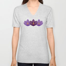 Crocus Flower Unisex V-Neck