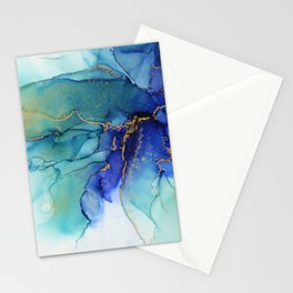 Electric Waves Violet Turquoise - Part 2 Stationery Cards