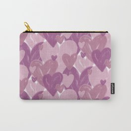 Infinite hearts pink Carry-All Pouch