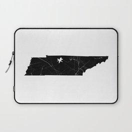 Black Marble Tennessee - Nashville Laptop Sleeve