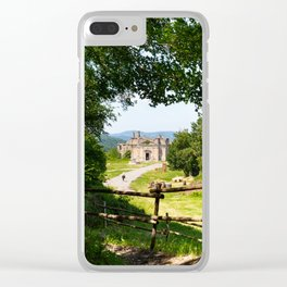 The abandoned ancient Monterano Clear iPhone Case
