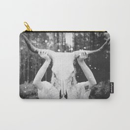 Bull Skull Tribal Woman Vintage Carry-All Pouch