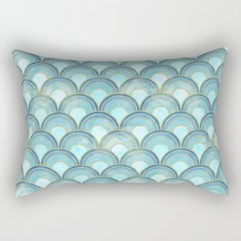 The Peacock Theme Rectangular Pillow