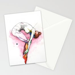 The Question, Ballet nude anatomy, NYC artist Stationery Cards