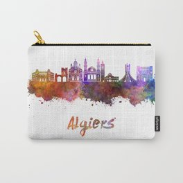 Algiers skyline in watercolor Carry-All Pouch