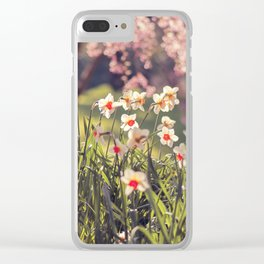 Daffodils Narcissus Flower Clear iPhone Case