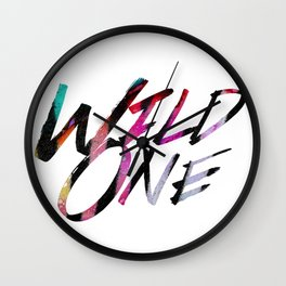 Wild One (words only) Wall Clock