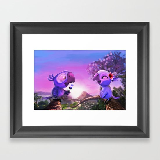 Love in Rio Framed Art Print