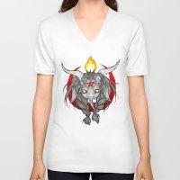 baphomet V-neck T-shirts featuring Baphomet V1 by Savannah Horrocks