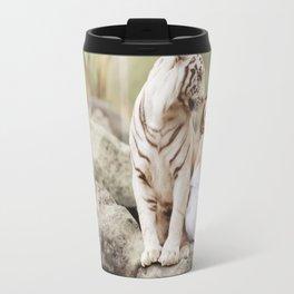 White Bengal Tiger With Japanese Woman Travel Mug