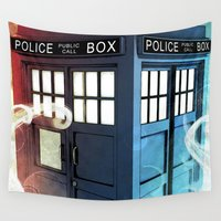 police Wall Tapestries featuring The Police Box by KiloWhat