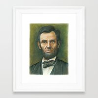 lincoln Framed Art Prints featuring Lincoln by Jay Montgomery