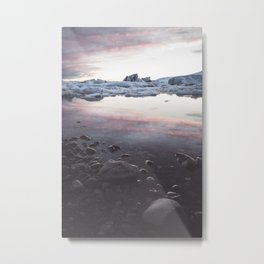 Jokulsarlon Lagoon - Sunset - Landscape and Nature Photography Metal Print