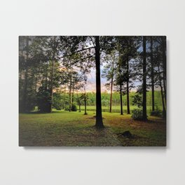 Open Pond Sunset Metal Print