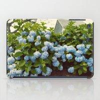 cape cod iPad Cases featuring Cape Cod Hydrangeas by Joyce Vincent