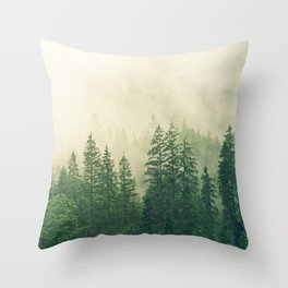 Majestic Forest Throw Pillow