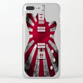 Guitar-Flag-Japan Clear iPhone Case