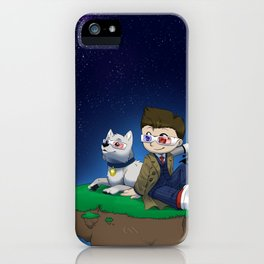 Levitating Island of Awesomeness iPhone Case