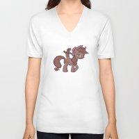 my little pony V-neck T-shirts featuring My Little Remington Pony by Ancora Imparo