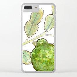tea botanicals | Bergamot // earl grey Clear iPhone Case