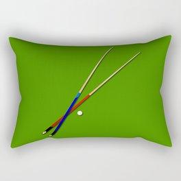 Snooker Cues Rectangular Pillow