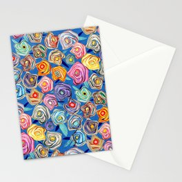 Grandmother Smiles Garden Blue London Stationery Cards
