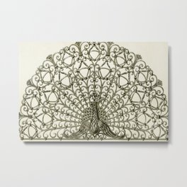 Maurice Pillard Verneuil - Paon, grille fer forgé Metal Print