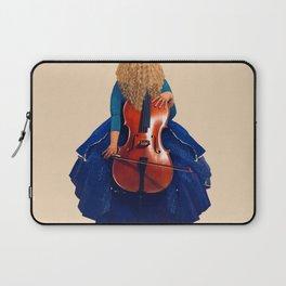 Cellist in Blue II Laptop Sleeve