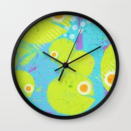 Cuties in action Wall Clock