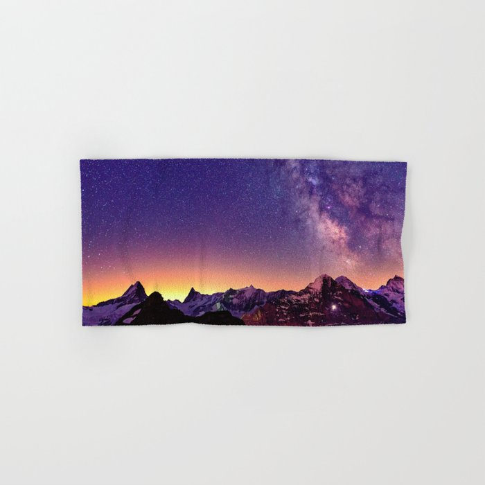 Sunset Mountain #stars Hand & Bath Towel